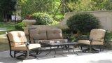Pátio com jardim Giratório de alumínio fundido de Lazer & Glide bate-papo mobiliário de Ajuste