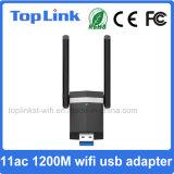 adaptateur à grande vitesse de WiFi de radio de 802.11AC 2T2R 1200Mbps USB 3.0 avec l'antenne externe pour l'émetteur et récepteur