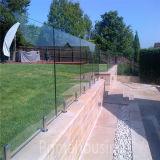 Для использования вне помещений безрамные поручень из закаленного стекла