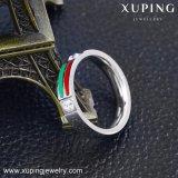 13941 Ring van de Vinger van de Juwelen van het Roestvrij staal van de manier de Koele Silver-Plated met Kubieke Zircon