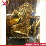 Del blocco per grafici di legno della presidenza sofà reale dorato della parte posteriore su per la cerimonia nuziale/banchetto/hotel/ristorante