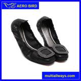 Zapatos planos de Microfiber de la manera para la señora elegante