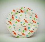 La fibra di bambù amichevole di Eco degli articoli per la tavola biodegradabili naturali scherza il piatto di pranzo