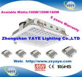 Yaye 18 Hot vendre Prix compétitif 120W Éclairage de la station de gaz à LED avec 5 ans de garantie/Meanwell