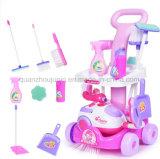 OEM het Plastic Stuk speelgoed van de Stofzuiger van de Hulpmiddelen van het Huis van het Spel Schoonmakende