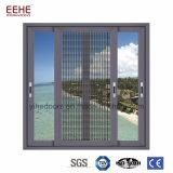 Finestra di alluminio di scivolamento dell'ufficio della finestra di zanzara del commercio all'ingrosso interno del reticolato