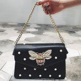 熱い方法PUの革ハンドバッグ真珠Sy8500が付いている新しいデザイン女性ショルダー・バッグ