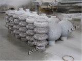 Trilhos de pedra automáticos da máquina de estaca do torno/processamento coluna do granito/a de mármore