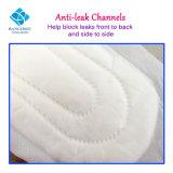 El uso diario Menstrual período Dama desechables absorbentes de algodón compresas con alas