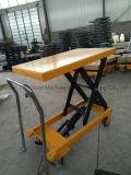 a mão móvel da plataforma 300kgs hidráulica Scissor a tabela de elevador