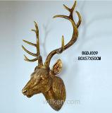Gran escultura de la cabeza de ciervo para el hogar Decoración de pared de resina