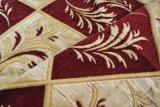 빨간색에 의하여 잎 패턴 셔닐 실 실내 장식품 직물