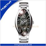 Ovale Horloge van de Luxe van de Manier van het Ontwerp van de goede Kwaliteit het Unieke voor Vrouw