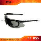 De randloze Ééndelige Kogelvrije Glazen van de Politie van de Zonnebril van de Lens Anti UV Militaire met Riem