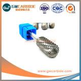 La queue de 1/4 pouces de diamètre Ratory carbure de tungstène Burr Diamond Cut