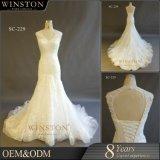Neue luxuriöse Qualitäts-modernes Hochzeits-Kleid