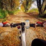 Berço universal do suporte Non-Slip do telefone da bicicleta do silicone com as telas ajustáveis