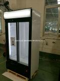 800L Refrigerador vertical da porta de vidro corrediço