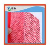 Etiqueta adesiva vermelha feita sob encomenda original para a segurança