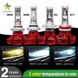 Суперяркий 8000лм 6500K большой набор для ближнего света фар H1, H3, H4, H7, H11 9005 9006 светодиодный индикатор автоматического корректора фар X3 лампы автомобиля
