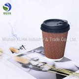 Doubles cuvettes de café de papier d'emballage de mur avec les couvercles en plastique de Sipper