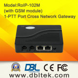 Rádio sobre o Gateway RoIP-102 de VoIP da Cruz-Rede do IP