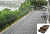 Placa de revestimento de madeira decorativa do assoalho Tile/WPC do Decking do PE de Outerior
