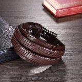 Form-einfacher Entwurfs-Leder-Armband für Männer und Frauen
