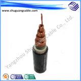 26/35kv XLPE изолировало обшитый PVC толщиной силовой кабель стального провода Armored