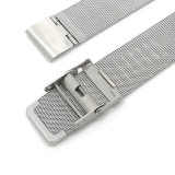 cinturino di vigilanza tessuto della maglia dell'acciaio inossidabile di 18 20 22mm