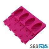 Molde del Popsicle del silicón de la categoría alimenticia del FDA/molde de la fruta del hielo del silicón