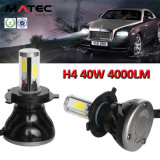 Faro H7 H11 9005 dell'automobile del LED 9006 9007 faro della jeep LED di H4 40W