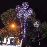 크리스마스와 Halloween 훈장 LED 가벼운 팽창식 투명한 풍선