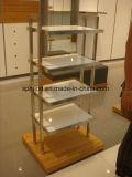 Banco di mostra di bambù del &Wood di quarto livello quadrato del metallo