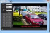 La luz de infrarrojos invisible 720p 1.0MP la cámara de red IP construido ranura para tarjetas SD P2P