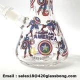 نقيب أمريكا كأسات زجاجيّة أنابيب ماء زجاجيّة [سموك بيب]