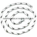 Acero inoxidable Rhombus Collar de cadena biselado