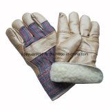 Перчатки работы зимы дешевой кожи мебели цены защитные с подкладкой горжетки полной