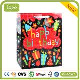 Geburtstag-Kerze-Geschenk-Kleidungs-Andenken-Schwarz-Form-Geschenk-Papierbeutel