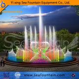 Очаровывая фонтан воды танцы нот качания влияния 3D горизонтальный