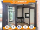 Puerta deslizante de aluminio del color de madera del grano para la casa