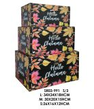 가정 가구 다중 색깔 직물 완료 가을 작풍 저장 상자, 보석함 조직자