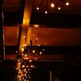 外の庭のテラスのクリスマスツリーの屋内寝室のための防水屋外の妖精ストリング太陽ライトは白を暖める