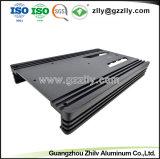 Extrusión de aluminio de la competencia para el disipador de calor del radiador de equipos de audio para coche