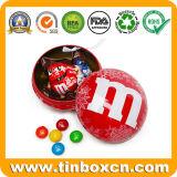 Het Tin van de Bal van Kerstmis van de Gift van het metaal voor de Koekjes van het Suikergoed van de Chocolade