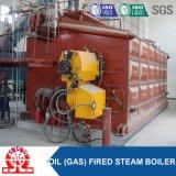 Saída despedida dobro da água quente da caldeira do gás do cilindro (petróleo)