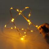 Luz de plata de la cadena del alambre LED para la Navidad