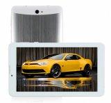 7 Tabletten van de Kern van de Vierling van het Scherm 1024*600 van de duim HD de Androïde 3G met het Geval van het Silicone
