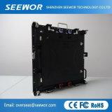 Hohe im Freien Anschlagtafel der Präzisions-P4mm der Miete-LED mit dem 576*576mm Schrank