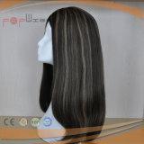 Jungfrau-Haar-Kurzschluss-volle Spitze-Frauen-Perücke (PPG-l-01862)